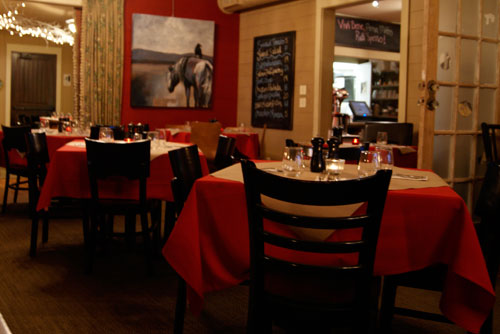 Picture inside the Marco Trattoria Restaurant in Brevard, NC