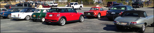 British Car Club of WNC's First Ride of 2015