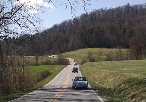 British Car Club of WNC's First Drive of 2015