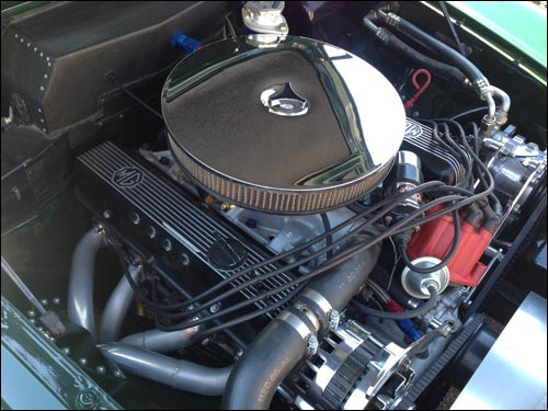 Under the hood of the 1965 MGB-V8