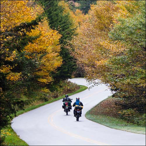 Motorcycle Rental Firms in the Blue Ridge and Great Smoky Mountains