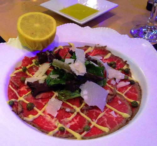 Renzo's Beef Carpaccio Appetizer