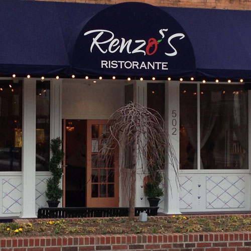 Awning and Front Door at Renzos Restaurant, Hendersonville, NC