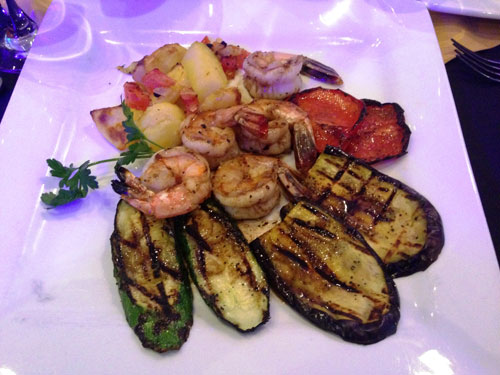 Renzo's Grilled Shrimp, Squash and Roasted Potatoes