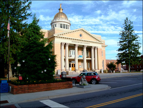 The Old Courthouse in Hendersonville is now a Museum