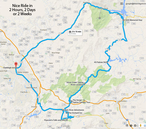 Interactive Google Map of 2-Hour Loop