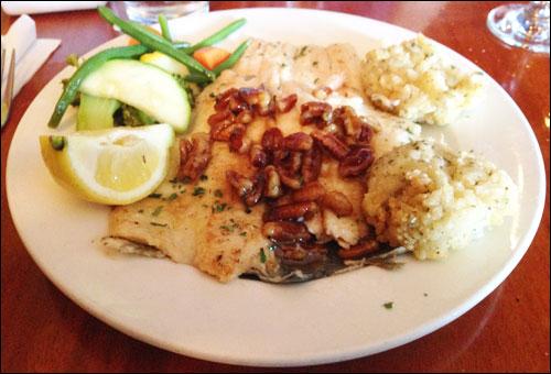 Fresh Trout at Falls Landing Restaurant, Brevard, NC