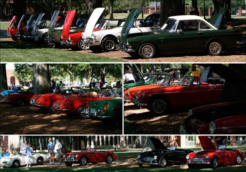 Sunbeam Alpines and Tigers at the Great Scott Car Show