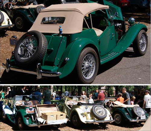 Triumphs at the Great Scot Car Show