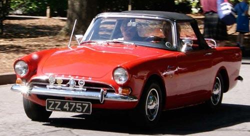 Beautiful Red Sunbeam Alpine at the Great Scot Car Show