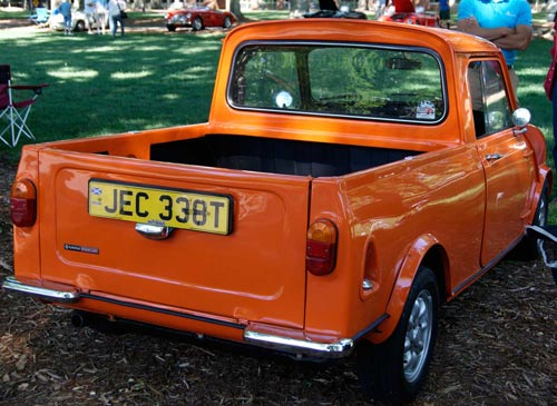 Mini Cooper Pick-up Truck at the Great Scot Car Show