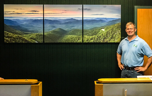 Rob Travis' Cradle of Forestry Tower Project Triptych