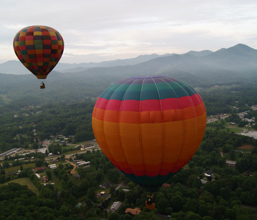 Blue Ridge Mountain Hot Air Balloon Rides