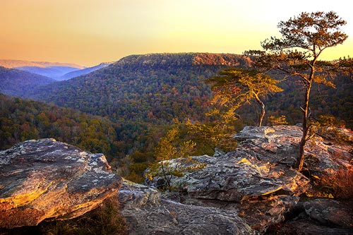 Click to view larger version or to purchase Appalachian Sunrise photo by Dennis Sabo