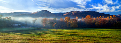 Click image to see a larger version or to purchase Cades Cove Morning photo by Dennis Sabo